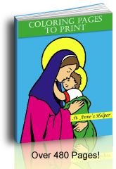 Wonderful Catholic coloring pages with many other complimentary themes.
