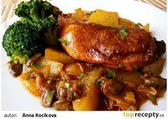 fofr oběd z takáče (uzené kuřecí stehna,brambory,špek,slaninu,kápie,rozmarýn)