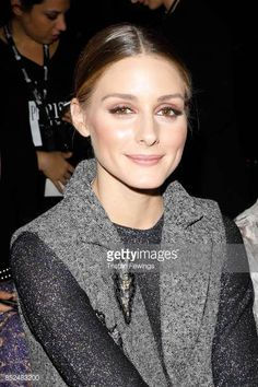 Olivia Palermo attends the Salvatore Ferragamo show during Milan Fashion Week Spring/Summer 2018 on September 23 2017 in Milan Italy