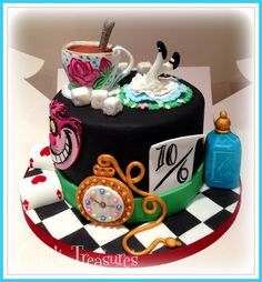 Alice In Wonderland Cake by gertygetsgangster.deviantart.com on @DeviantArt