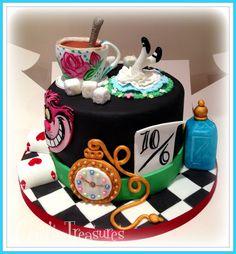 Alice In Wonderland Cake by gertygetsgangster.deviantart.com on @DeviantArt