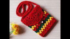 Crochet For Kids, Crochet Baby, Christmas Tree Pattern, Crochet Purses, Kids Bags, Purses And Handbags, Cross Body, Crochet Necklace, Crochet Patterns