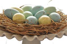 {TUTORIAL} painted easter eggs & nest - Creative Juice