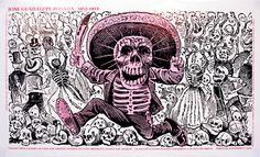 Cartel de exposición de José Guadalupe Posada en el Vincent Price Art Museum en los años setenta