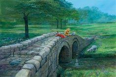 Disney Fine Art Giclee Fishing w/ Friends Peter Ellenshaw