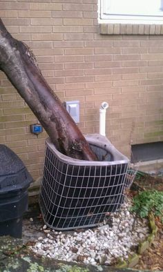 Is your AC unit a victim of bad weather? Call us! We can fix that. | www.dayandnighthvac.com