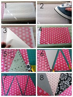 Great way to cut a banner Make Bunting, Bunting Banner, Pennant Banners, Fabric Garland, Fabric Bunting, Fabric Banners, Bunting Pattern, Fabric Crafts, Sewing Crafts