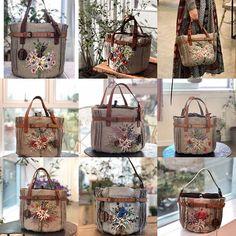 Daisy Love, Diy Handbag, Handmade Bags, Embroidery, Quilts, Purses, Wallet, Sewing, Pattern