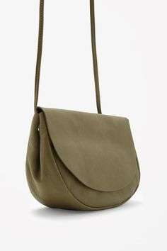 e750c39ced3 COS image 6 of Soft rounded leather bag in Olive Green Big Bags, Small Bags