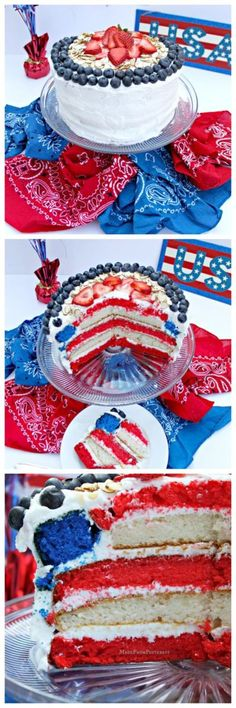 This is so SIMPLE to do with BIG results. Patriotic 4th of July Flag Cake tutorial.