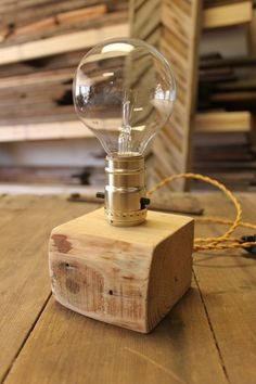 upcycled pallet light by ADAMSandAUGUST on Etsy