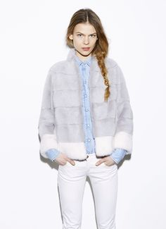 Byte by Giuliana Teso Mink Fur Jacket