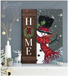 Christmas Wall Art Canvas Christmas Wall Art Canvas, Canvas Wall Art, Canvas Prints, Rustic Doors, Door Wall, Canvas Material, Home Art, Crafts, Home Decor