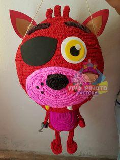 #Piñata #Foxy #FiveNightsAtFreddy's  seguimos con más pedidos de piñatas para esos pequeñ@s Gamers