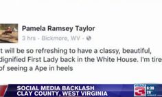 West Virginia Official Removed From Post After Calling Michelle Obama 'Ape In Heels'   The Huffington Post