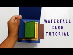 Tutorial - Waterfall Card // Easy, Quick, Template - YouTube