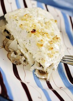 Baked Halibut with Yogurt Sauce by petermarcus, fotocuisine #Fish #Halibut #Yogurt