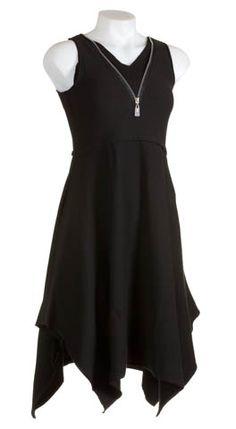 Noblu Zip V-Neck Dress