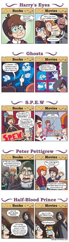 Harry Potter: Books vs Movies