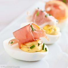 deviled eggs with prosciutto - Great Easter appetizer