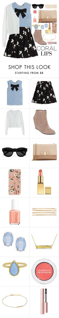 """""""Here's the Spring Outfit"""" by ohsosartorial on Polyvore featuring beauty, Steffen Schraut, Marc by Marc Jacobs, WithChic, Jessica Simpson, Yves Saint Laurent, Salvatore Ferragamo, Casetify, AERIN and Essie"""