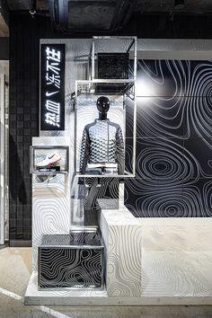 Shoe Store Design, Retail Store Design, Nike Retail, Office Wall Design, Window Display Design, Retail Interior, Environmental Design, Light Installation, Shop Interiors