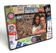 Chicago Cubs Ticket Collage Wooden 4x6 inch Picture Frame - Officially Licensed by MLB