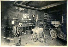 Chas (Charles) Metzger's Garage, Wapakoneta, Ohio April 27, 1927