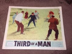 1962 Vintage Third of A Man Movie Lobby Card Poster Man Movies, Vintage Artwork, Artwork Prints, Third, Baseball Cards, Artist, Poster, Ebay, Vintage Graphic
