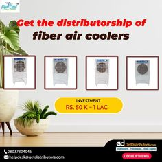 Get the #distributorship of fiber air coolers under the brand name Real Cool Enterprises. Share your contact number, if you are interested in this #BusinessOpportunity. #coolers #aircoolers #fiberaircoolers