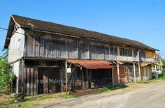 Old wooden shop houses in Terengganu, Malaysia