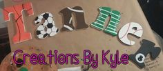 Sports children letters