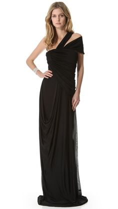 Vionnet One Shoulder Gown