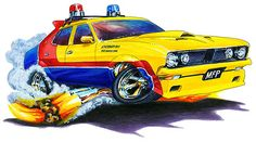 Madd Doggs Mad Max MFP Police Car Muscle Car T-Shirts and Apparel