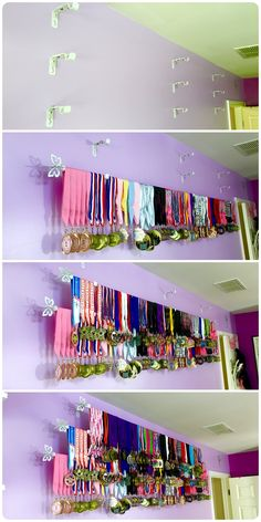 How to display sports medals easy and inexpensive.