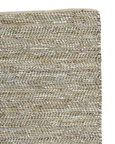 Subtle pops of silvery, sueded leather are woven with natural hemp to add just a hint of shimmer. Neutral enough to go with anything, it epitomizes that California-cool style we love. Finished with a cotton binding on either end.