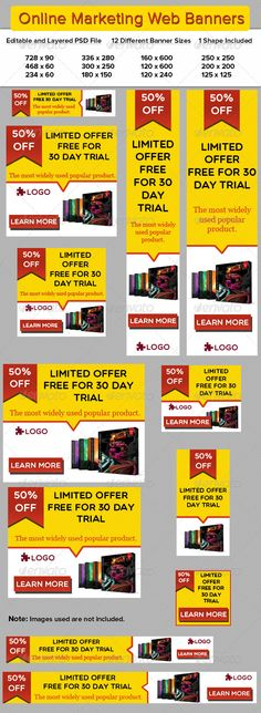 Online Marketing Web Banners Template PSD | Buy and Download: http://graphicriver.net/item/online-marketing-web-banners/5774047?WT.ac=category_thumb&WT.z_author=ikkeaviy&ref=ksioks