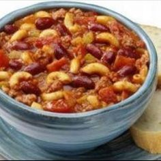 "Favorite Chili Mac - quick, easy and spice it your way. Make some corn bread - if nothing else you can get a box of Jiffy mix for $1.00. Feeds a family of any size and make good for left overs or ""in the fridge"" go to's!    tryin this one for dinner tonight!"