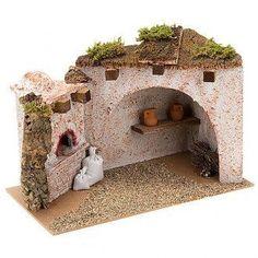 Christmas Nativity Scene, Christmas Villages, Christmas Home, Christmas Crafts, Christmas Decorations, Fontanini Nativity, Nativity Stable, Modelos 3d, Beaded Christmas Ornaments