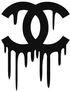 Logo Chanel qui coule !