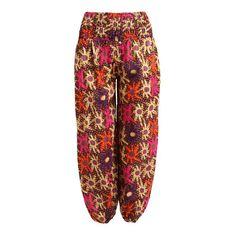 New Hippy Trousers 6 8 10 12 Hippy Ethnic Boho Ali Baba Rayon Indian Ethical