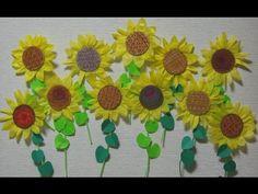 折り紙で立体的なヒマワリを作ってみた!★解説あり★|Origami Sunflower 【3D】 - YouTube
