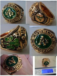 Vintage Oakland As Athletics World Series Championship Ring Reggie Jackson