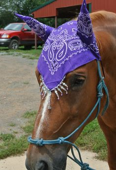 www.facebook.com/TeedsHorseHats Horse Fly Bonnets to combat pesky flies and unbearable gnats in fashionable and styling colors. Unique beading will set each one apart. Your horse will love it! Made from 100% cotton. MAKE SOME EARLESS!!!