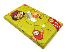 Green Spotted Owl Decor Light Switch Cover Gender by ModernSwitch
