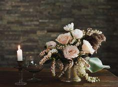 pieris japonica centerpieces shot by @heathernanphoto #weddings b