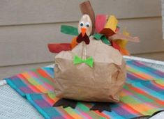 thanksgiving crafts paper bag turkey