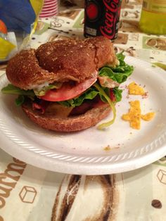 Turkey cheese burgers with avocado and turkey bacon on whole wheat buns bomb