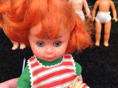 Unusual Vintage Plastic Doll With Orange Hair | eBay