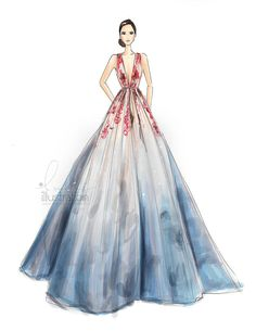 The Light of Now, Elie Saab Haute Couture | Holly Nichols- @hnicholsillustration/ hnillustration.etsy.com| Be Inspirational ❥|Mz. Manerz: Being well dressed is a beautiful form of confidence, happiness & politeness